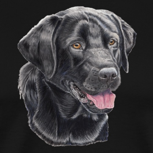labrador retriever black P - Herre premium T-shirt
