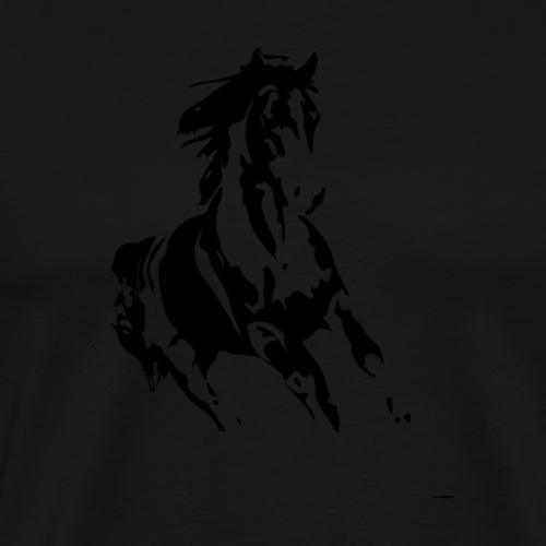 running horse 01 - Men's Premium T-Shirt