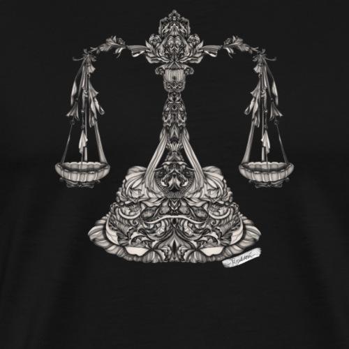 Waage Sternzeichen - Männer Premium T-Shirt