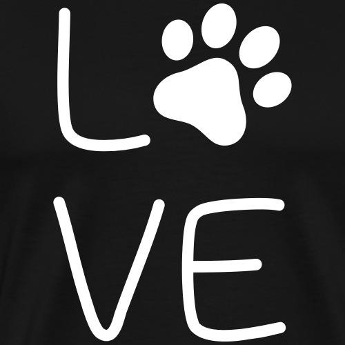 Hundeliebe - Männer Premium T-Shirt