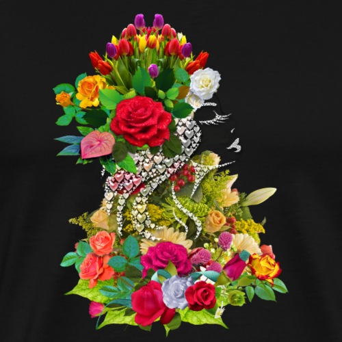 Lady flower - T-shirt Premium Homme