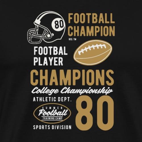 Champions de football - T-shirt Premium Homme