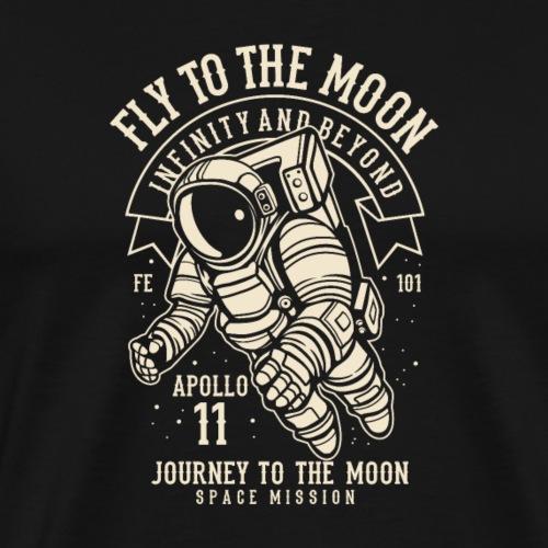 Flieg zum Mond - Männer Premium T-Shirt