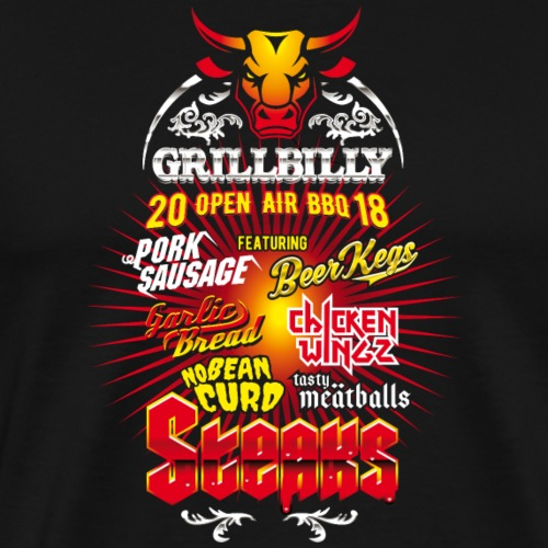 Grillbilly Festival - Männer Premium T-Shirt
