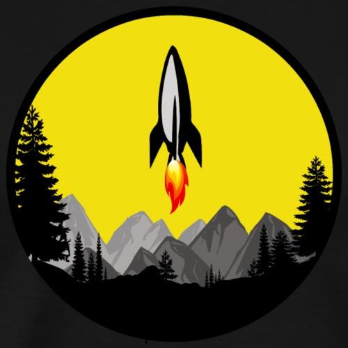 Gamer Arcade Sci-Fi Rocket T-Shirt Old School Game - Männer Premium T-Shirt