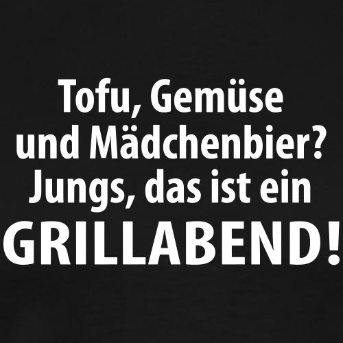Tofu Gemüse Mädchenbier Grillabend Fleisch Steak - Men's Premium T-Shirt