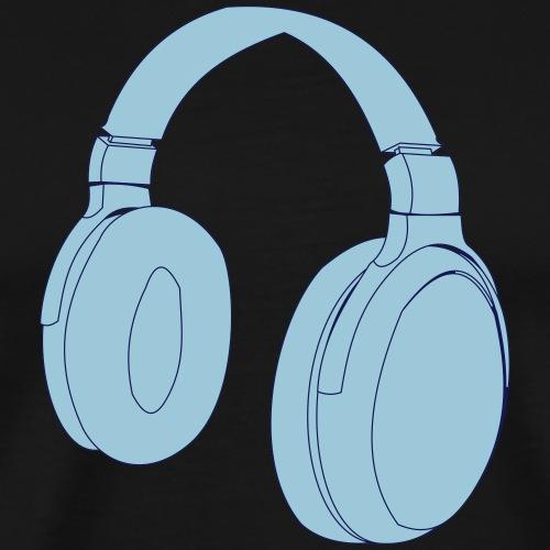 Kopfhörer Vektor Design - Männer Premium T-Shirt