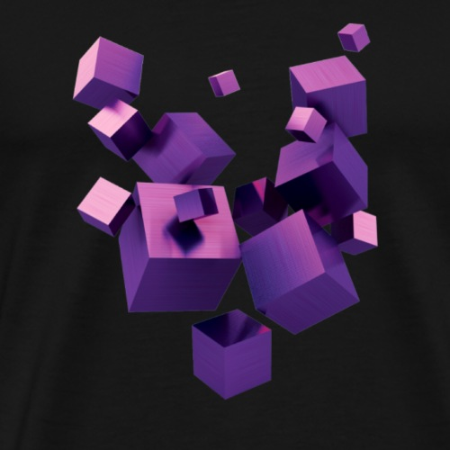Floating cubes - Premium T-skjorte for menn