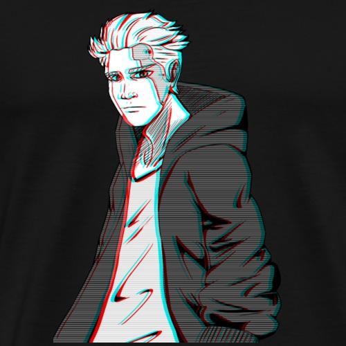 Cyber Glitch Guy - Men's Premium T-Shirt