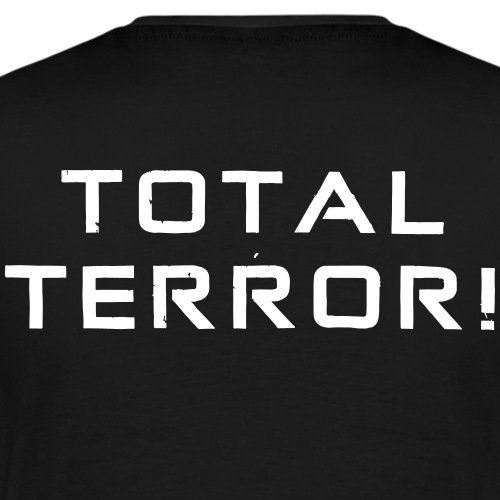 White Negant logo + TOTAL TERROR! - Herre premium T-shirt