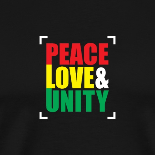 Reggae - PEACE LOVE & UNITY - Männer Premium T-Shirt