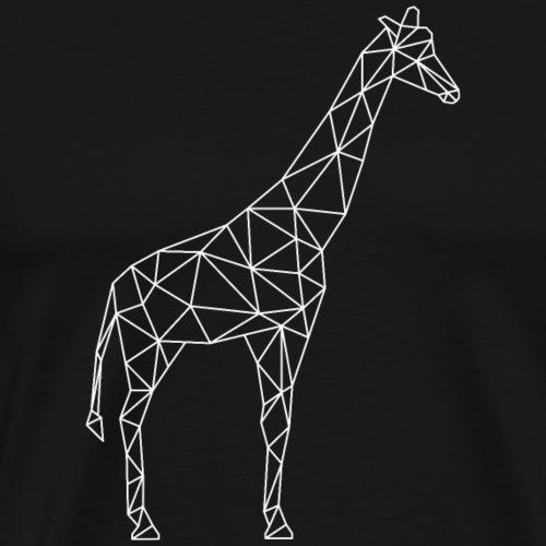 Giraffe Geometrisch weiss - Männer Premium T-Shirt