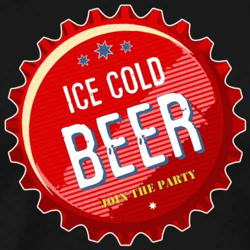 Bierdeckel rot ice cold Beer join the Party Durst - Men's Premium T-Shirt
