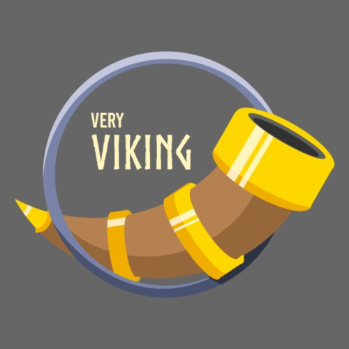 Very Viking Horn - Herre premium T-shirt