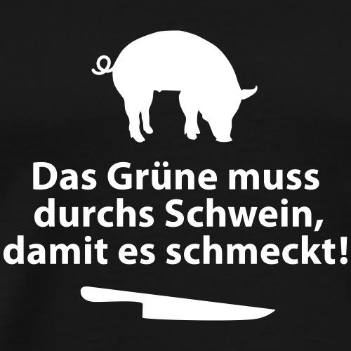 Gemüse Grill Schwein Fleisch Vegetarier Steak - Men's Premium T-Shirt