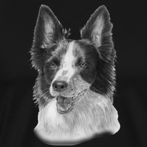 border collie 2 - Herre premium T-shirt