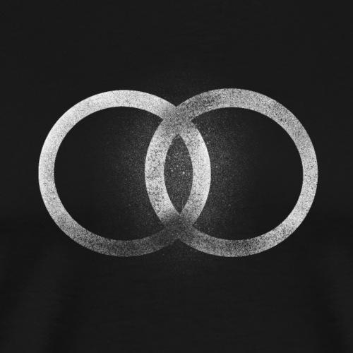 Símbolo abstracto de dos círculos unidos - Camiseta premium hombre