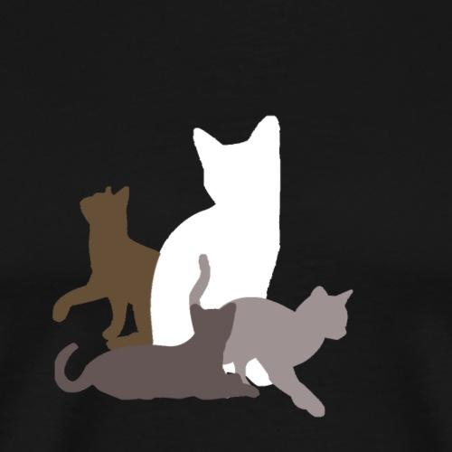 vier Katzen - Männer Premium T-Shirt