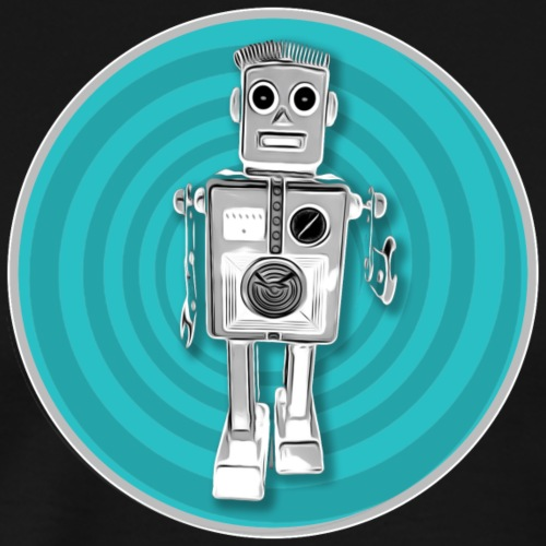Retro Roboter Sci-fi T-Shirt Vintage Geschenkidee - Männer Premium T-Shirt