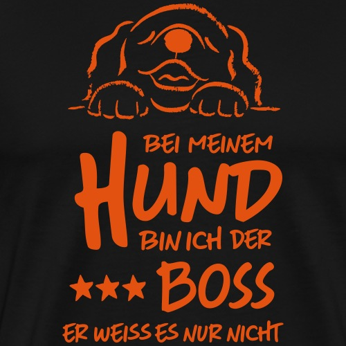 boss hund - Männer Premium T-Shirt