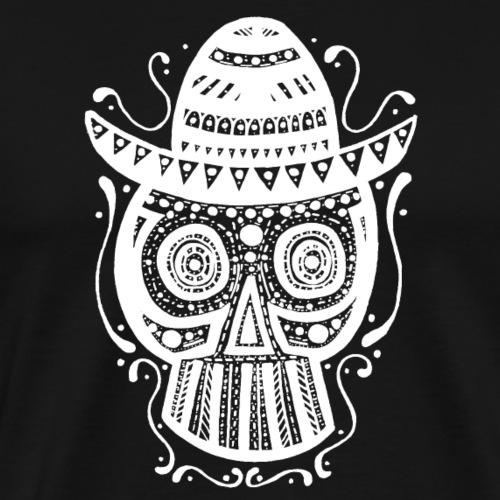 Sombrero Skull (White) - Männer Premium T-Shirt