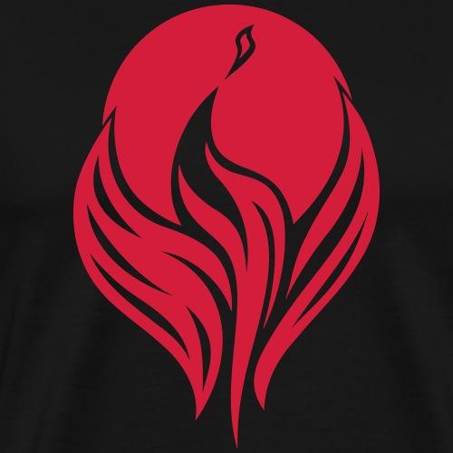 Phönix bei Nacht - Männer Premium T-Shirt