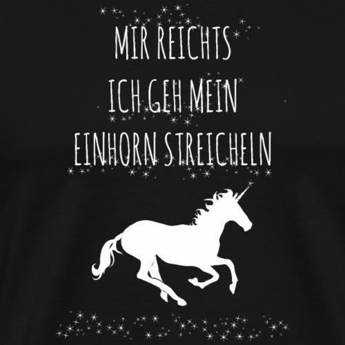 Einhorn Unicorn Rosa lustig Spruch Shirt Geschenk - Männer Premium T-Shirt