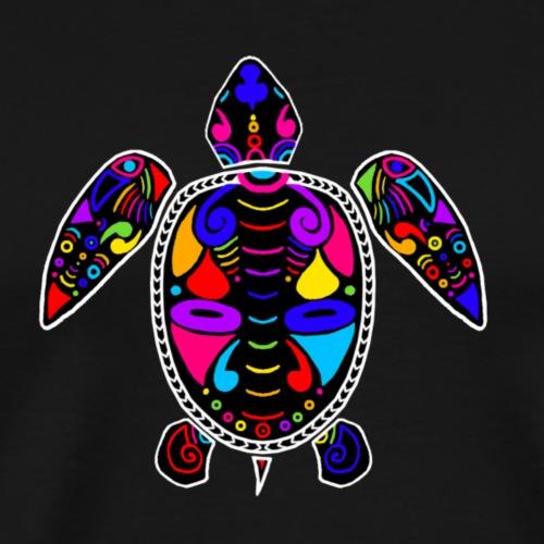 Tortue de mer multicolore