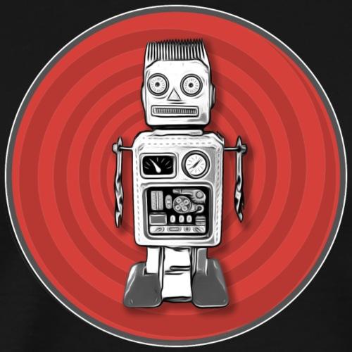 Lustiges Roboter Sci-fi T-Shirt Vintage Geschenk - Männer Premium T-Shirt