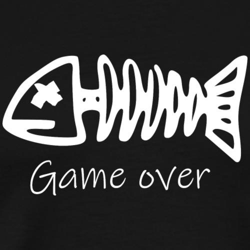 Motiv Fisch-Skelett für Angler - Männer Premium T-Shirt