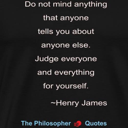 Henry James Judging Philosopher w - Mannen Premium T-shirt