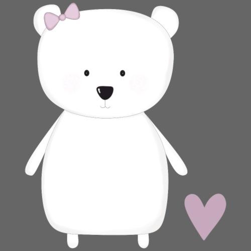 Eisbär mit Herz - Männer Premium T-Shirt