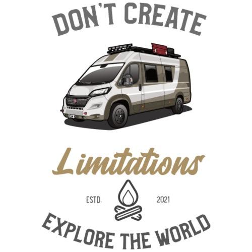 Explore the World Kastenwagen - Männer Premium T-Shirt