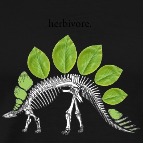 Herbivore Skeleton 2 - Men's Premium T-Shirt