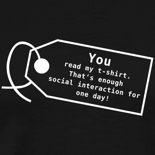 Social interaction - Männer Premium T-Shirt