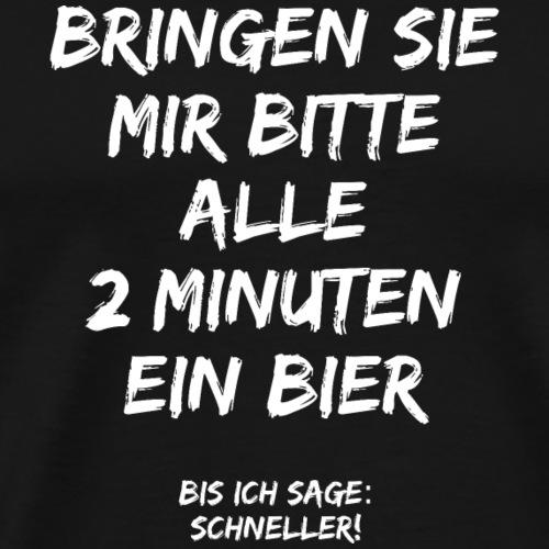 Sauf T-Shirt Alle 2 Minuten ein Bier - Männer Premium T-Shirt