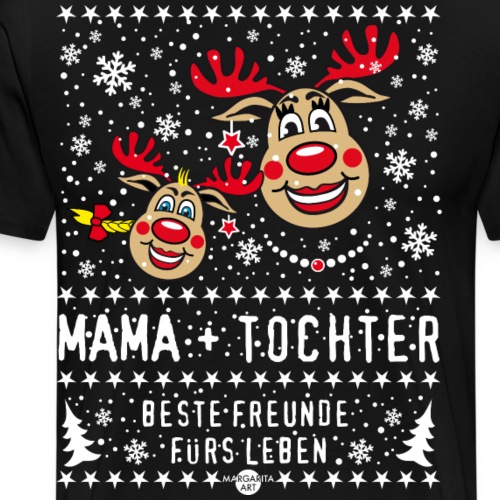 104 Hirsch Mama Tochter Beste Freunde fürs Leben - Männer Premium T-Shirt
