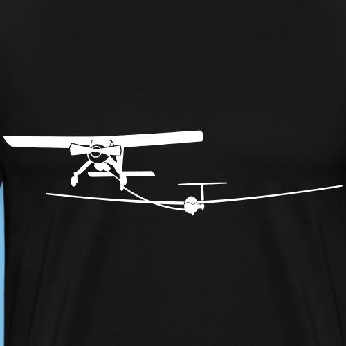 Flugzeug Pilot Segelflugzeug Segelflieger gleiten - Männer Premium T-Shirt