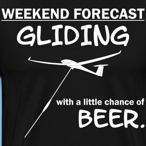 gleiten Wochenende Segelflieger Tshirt Geschenk - Männer Premium T-Shirt