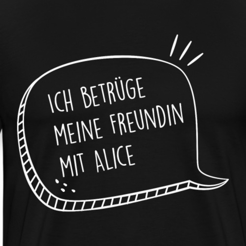 Partner Shirt Alice / Peter - Männer Premium T-Shirt