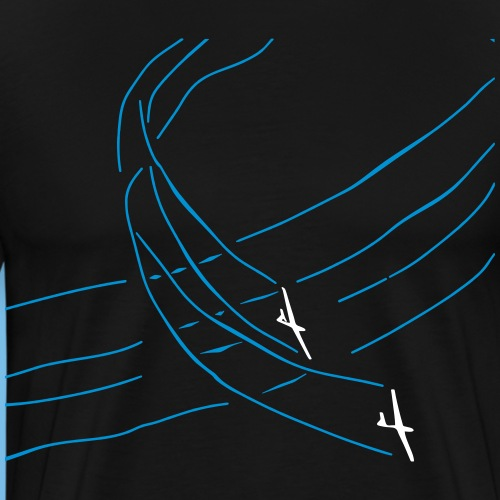 Segelflieger Wettbewerb Kunstflug T-shirt Geschenk - Männer Premium T-Shirt