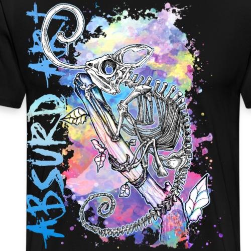 Knochentierchen Chamäleon von Absurd ART - Männer Premium T-Shirt