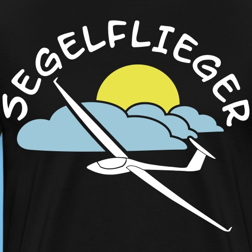 Segelflieger Design Geschenk Segelflugzeug Tshirt - Männer Premium T-Shirt