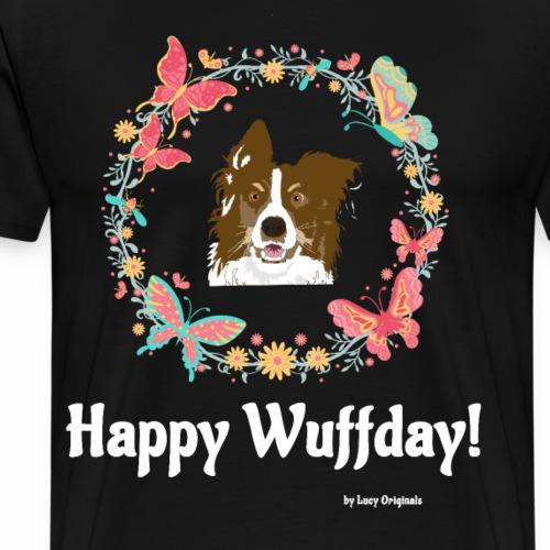 Happy Wuffday Red Butterfly - Männer Premium T-Shirt