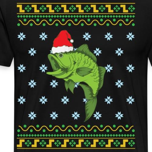 Angeln Ugly Christmas Angler - Männer Premium T-Shirt