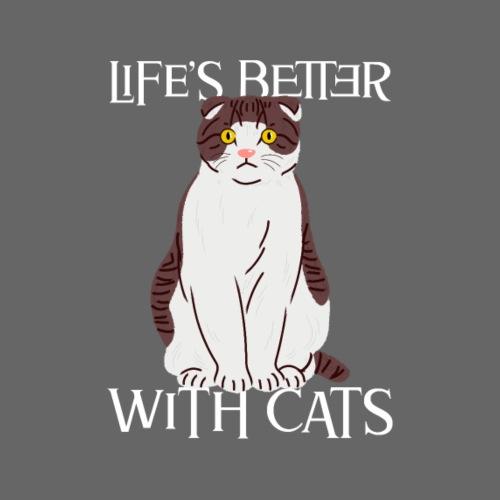 Das Leben ist besser mit Katzen Besitzer Katze - Männer Premium T-Shirt