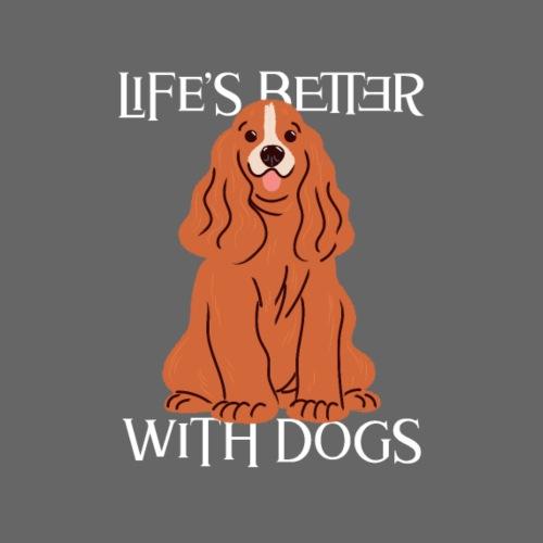 Das Leben ist besser mit Hund Hunden - Männer Premium T-Shirt