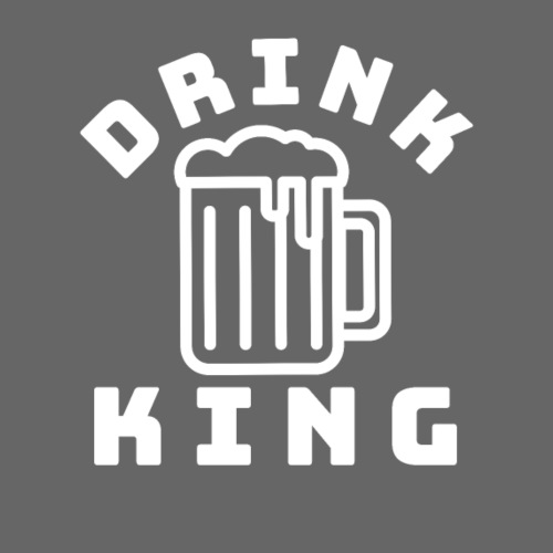Trinkkönig Saufkönig Drink King Bier - Männer Premium T-Shirt