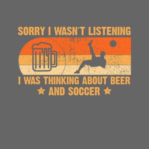 Bier und Fußball - Männer Premium T-Shirt