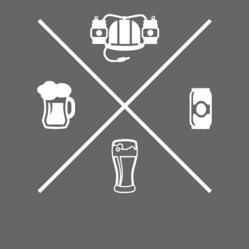 Crossed Bier Helm Dose Glas Krug - Männer Premium T-Shirt